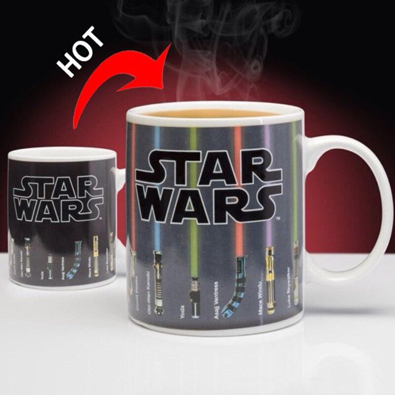 Promotion Star Wars Lightsaber Heat Reveal Mug Color Change Coffee Cup Sensitive Morphing Mugs Temperature Sensing Birthday Gift