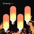 4 Pack светодиодный светильник с эффектом пламени 2835SMD E27 7W Мерцающая эмуляция светодиодный лампы атмосферные декоративные вечерние лампы
