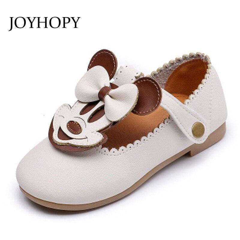 Children Shoes Girls 2018 Autumn Fashion Cartoon Kids Leather Shoes Casual Shoes Kids Shoes EUR21-30