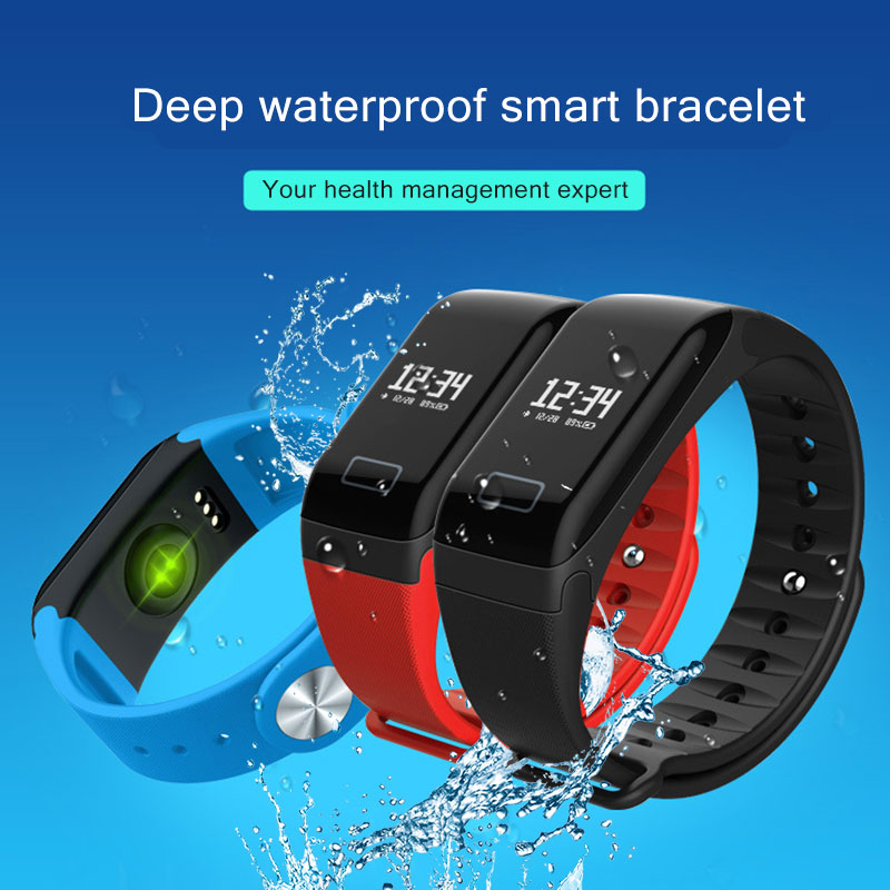 Tonometer Blood Pressure Pulse Monitor Oximeter Pulsometer Heart Rate Monitors Wrist Digital Tensiometers Smart Wristband watch in Blood Pressure from Beauty Health