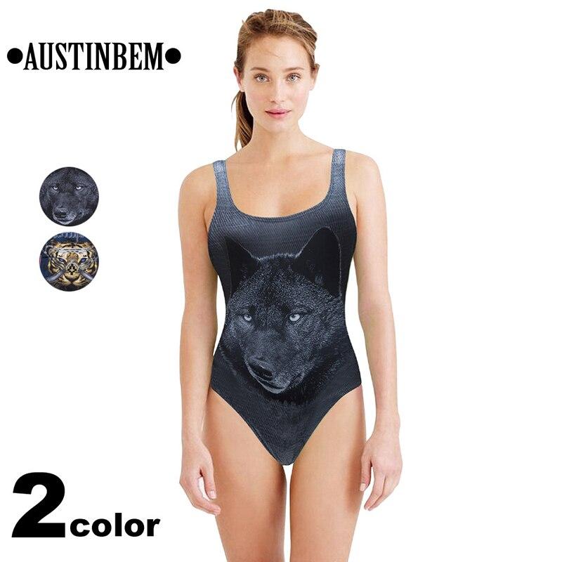 One Piece Swimwear Women 2017 Women S Swimming Suit Bikini Sexy Moda Feminina Animal Picture Denim