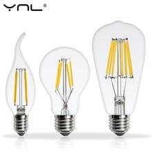 Real watt Antique LED Edison Bulb E27 2W 4W 6W 8W Vintage LED Bulb E14 Lamp 220V Retro LED Filament Light Candle Light Lamp