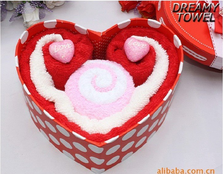 Aliexpress buy free shipping 100 cotton 8boxlot i love u aliexpress buy free shipping 100 cotton 8boxlot i love u wedding gift cotton towel heart shape christmas gift towel 256 from reliable towel stripe negle Image collections