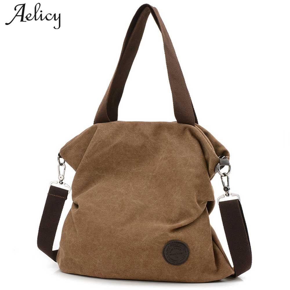 Canvas Tote Handbags Canvas Shoulder Bags  Casual Messenger Bags High Capacity Lady Toes Sac
