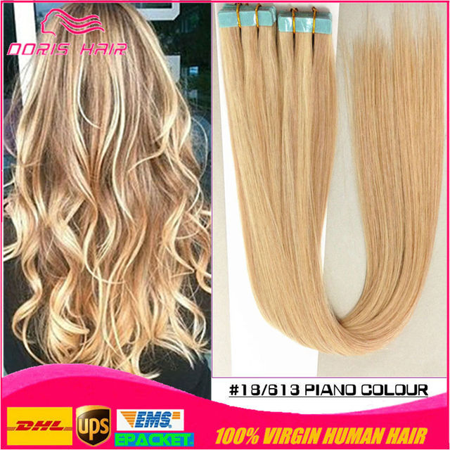 Cheap Tape Hair Extensions 18 20 22 20pcs 27613 Color 100 Thick