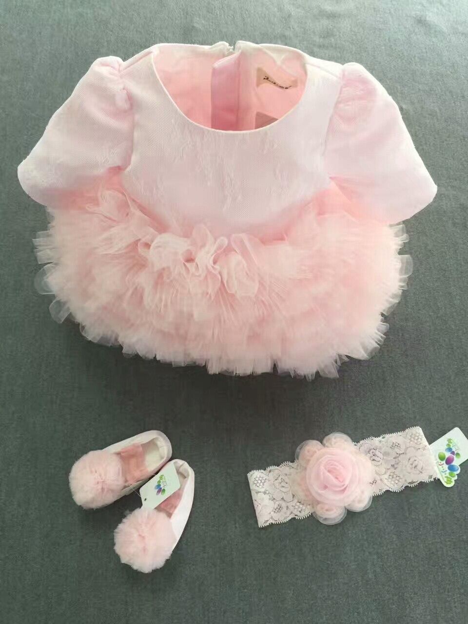 2 шт. реальные фото для маленьких девочек кекс платье с обувь с короткими рукавами для малышей Детские платья принцессы
