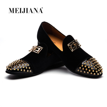 MEIJIANA Spring and Autumn Men Casual Shoes Brand Men Loafers Genuine Leather Driving Shoes Men's Flats Shoes Plus Size