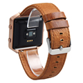 V-MORO Genuine Leather Fitbit Blaze Band Replacement Watch Band Wrsit Strap for Fitbit Blaze Accessory Band Brown Coffee