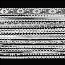 20Yards(10*2Yards)White DentelleLace Fabric Trim Embroidered Diy Handmade Patchwork Ribbon Sewing Supplies Crafts