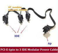 Новый 6 контактный 6Pin pci e Мужской до 3 IDE Molex 4Pin модульная Питание Кабель адаптер для Corsair модульная AX1200 отправлен по DHL/EMS