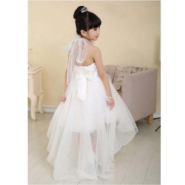 f60921370cd 2017 Summer Princess Wedding Bridesmaid flower girl dress for Child wear  Kids clothes white party dresses for girl beautiful