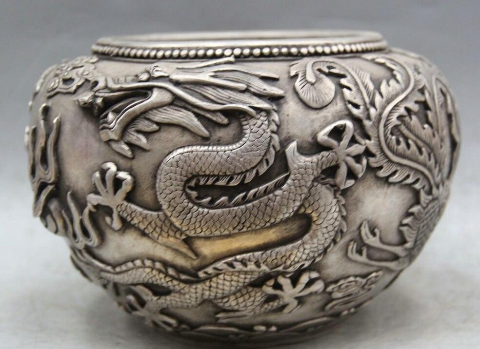Details about  9 Marked Chinese dynasty palace silver Pot Jar Crock Zodiac Year dragon Phoenix  Details about  9 Marked Chinese dynasty palace silver Pot Jar Crock Zodiac Year dragon Phoenix