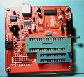 Envío libre AVR programador de alto voltaje, Stk500 compatible con la programación paralela, interfaz de programación ISP, TINY13A