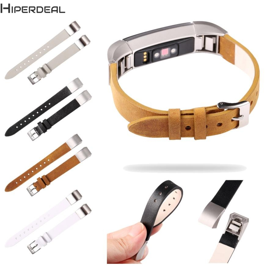 HIPERDEAL New Luxury Leather Band Bracelet Watch Band For Fitbit Alta/Fitbit Alta HR Hot 17Dec22 Dropshipping F