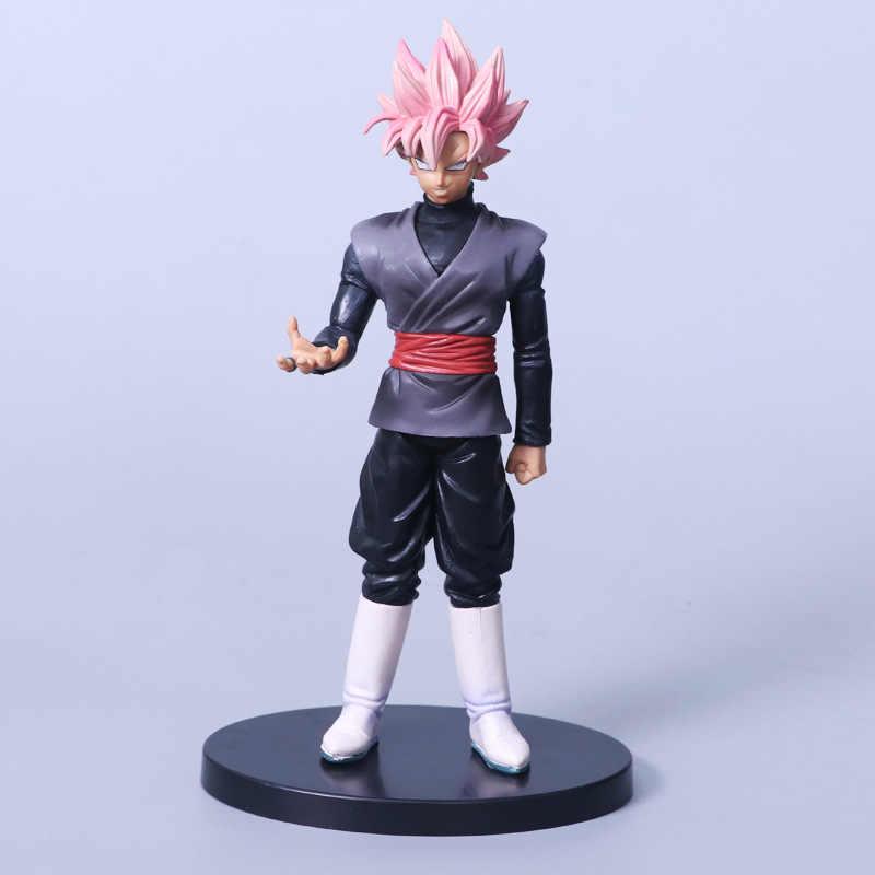 Anime Dragon Ball Z Son Goku Preto Zamasu Rosa Cabelo Figura de Ação Brinquedo Modelo de Pai Super Saiyan Gohan DBZ de Chocolate 20 cm