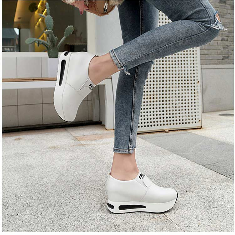 Vulcanize shoes women casual shoes 2019 new fashion solid pu women sneakers slip-on breathable shoes woman zapatos de mujer (2)