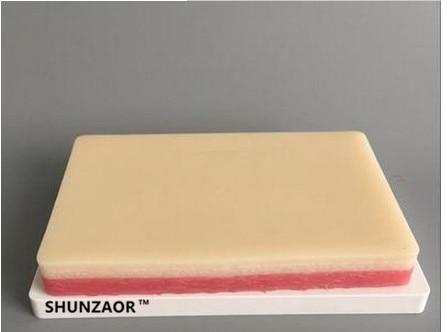 SHUNZAORpractice naht haut stitching modell/praxis/haut/chirurgischen praxis/medizinische haut modell silikagel ohne verunreinigungen