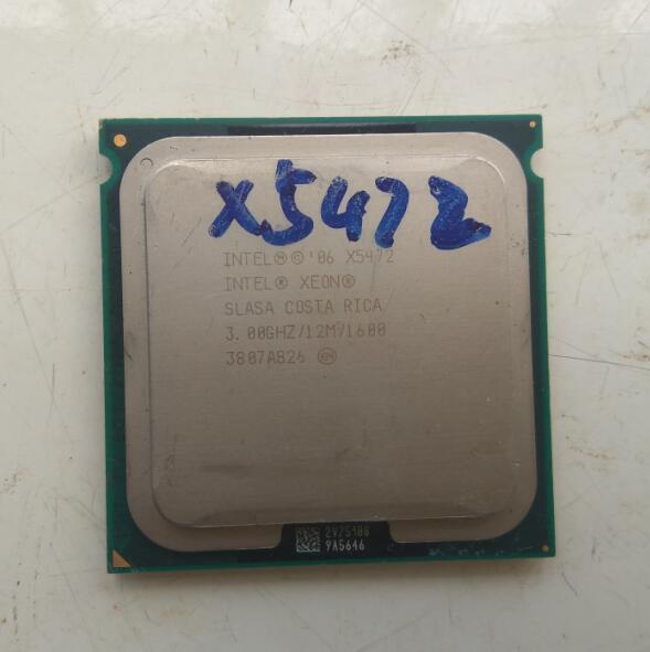 INTEL X5472 CPU processor /3.0GHz /LGA771/12MB L2 Cache/ Quad- Core/ server CPU close to LGA775 Core 2 Quad Q9650 CPU