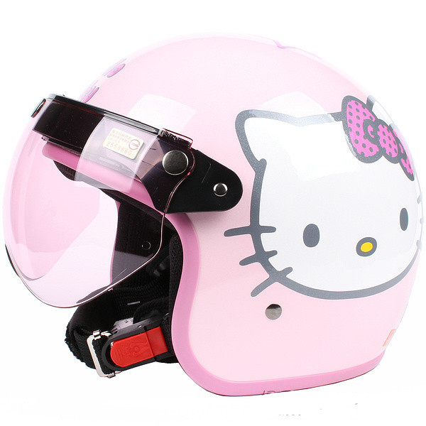 Image result for Hello Kitty moped helmet