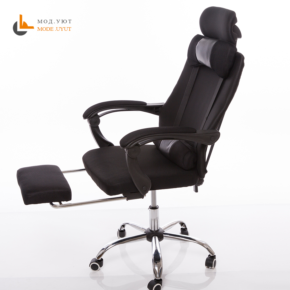 High quality mesh computer chair lacework office chair lying and lifting staff armchair with footrest high quality office computer can lay chair capable of lifting and rotating with a foot office chair chair flat home leisure