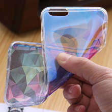 Exotic Blue Clear iPhone Case