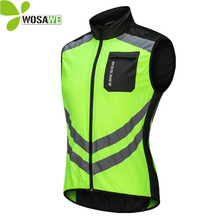 WOSAWE Reflective Cycling Vests Sleeveless Windproof sports  jerseys MTB Road Bike Bicycle shirt Top Clothing Coat Cycle Clothes