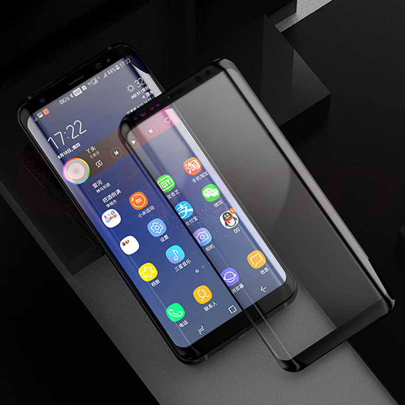 3D كامل غطاء واقي الشاشة لسامسونج غالاكسي S10 زائد S10e S8 s9 Plus S7 حافة S10 فيلم 9H خفف من واقيات الشاشة الزجاجية