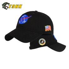 """TSNK хлопок вышивка """"аэрокосмический/космический полет"""" Snapback шляпа Пешие прогулки шапки для мужчин и женщин"""