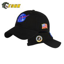 TSNK bawełniana haftowana czapka typu snapback #8222 Aerospace Space flight #8221 dla mężczyzn i kobiet tanie tanio T S N K Baseball Cap Stałe Parasolka COTTON