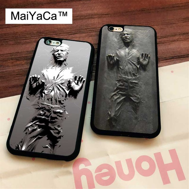 new concept 7dbc3 abac3 US $4.02 5% OFF|MaiYaCa Han Solo in carbonite Rubber Phone Case For iPhone  6 6S 7 8 Plus XS MAX X XR 5S SE Back Cover Skin Shell Coque-in Fitted Cases  ...