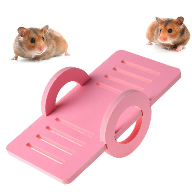 Candy Color Funny Wooden Hamster Seesaw Toy House Exercise Pet Small Animal  Playground Toys 2018