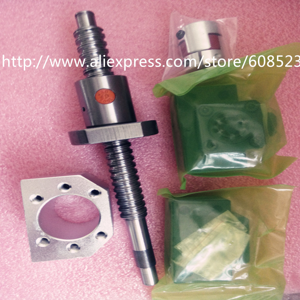 ФОТО 1antibacklash ballscrew 1605-750mm-C7+BK/BF12+couplers6.35*10 +1 nut housing for CNC parts