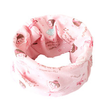 Новинка; хлопковый шарф для девочек со звездой, смайликом, бантиком, медведем и круглым вырезом; модная красивая одежда для мальчиков и девочек; шарфы; детский воротник