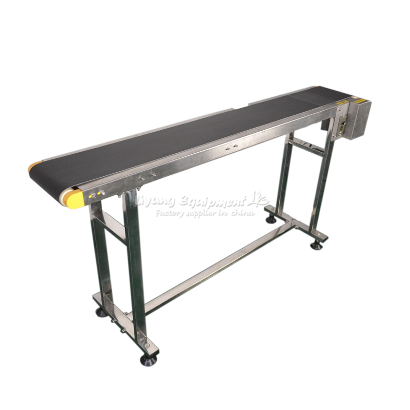 LY 2m Adjustable Double Buffles Stainless Steel Bottle Fiber Laser Marking Machine Conveyor Belt