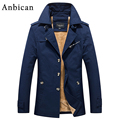 Anbican 2016 Winter Men's Parka Jacket Brand Fashion Army Military Casual Jacket Men Windbreaker Parka Coat Plus Size M-5XL