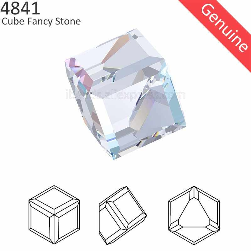 (1 piece) 100% Original Crystal from Swarovski 4841 Cube Fancy Stone Made in Austria loose rhinestone for DIY jewelry making