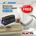 Acheter Aosion livraison gratuite chaud noir électronique souris Rat rongeur tueur électrique piège Zapper antiparasitaire (Got chien répulsif gratuit)