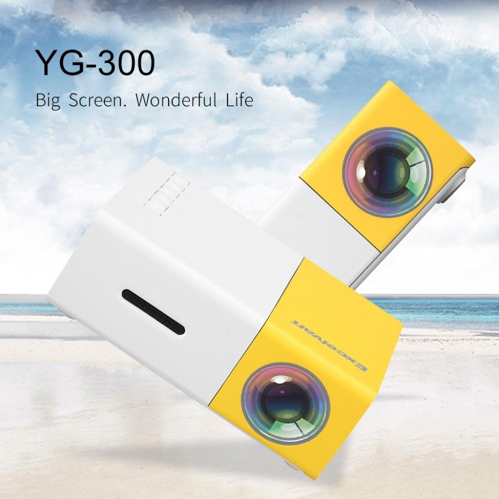 Excelvan yg300 Портативный мини-проектор светодиодный мини proyector для Видеоигры дома Театр Поддержка HDMI USB SD Главная media player