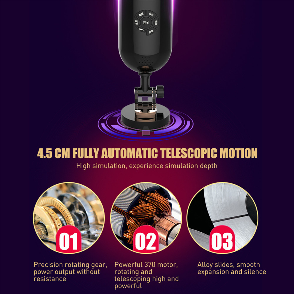 Automatic Sex Machine Voice Hand Free Electric Male Masturbation Blowjob Realistic Vagina Cup Pussy Vibrator for Man Sex Toys 11
