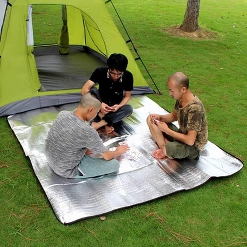 6.6 feet Aluminum film dampproof mat Camping  Tent mat  picnic Sleeping mat creeper oxford aluminum film lunch picnic insulation bag pink white