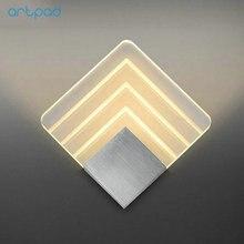 Artpad 5W Acrylic LED Aluminum Contemporary Wall Lights Square Lights Corridor Hotel Bedside Art Bedroom Wall Lamp LED 110V-220V