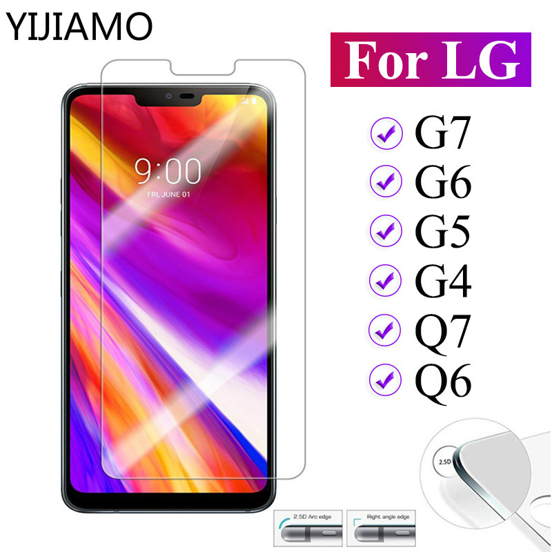 YIJIAMO Tempered <font><b>glass</b></font> for <font><b>LG</b></font> <font><b>G6</b></font> Q6 protective <font><b>glass</b></font> Q7 G7 G5 G4 9H <font><b>screen</b></font> <font><b>protector</b></font> for <font><b>LG</b></font> G 6 5 4 7 6g q7 q6 Protection film image