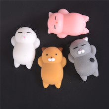 Cute 3D Soft Cats Squishy Toys Phone Strap For Mobile Kawaii Marshmallow Silicone Gel Finger Pinch Squeeze Lovely Toy