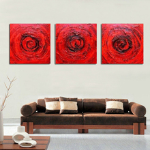 Pure Hand-painted Oil Painting On Canvas Adornment Bedroom Red Roses Abstract Painting Pictures Home Decor No Framed no red roses