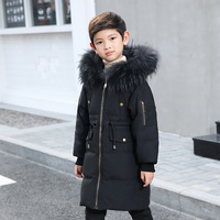 Boys Girls Down Jackets 2018 Winter Coat For Kids Parka Outerwear Children Thicken Jacket 4 6 8 10 12 Years Girls Hooded Clothes