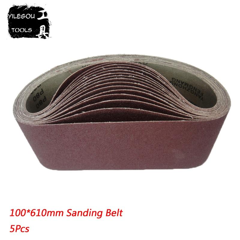 5 Pieces Sanding Belt 100*610mm Sanding Band 4