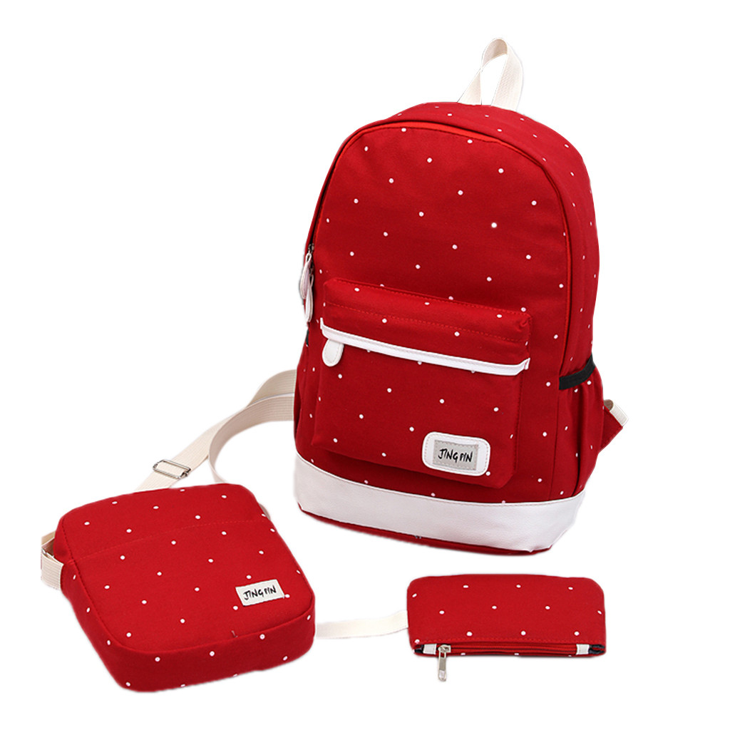 Student Backpack Book-Bags Schoolbag Teenage-Bags Rucksack Canvas Satchel-Shoulder