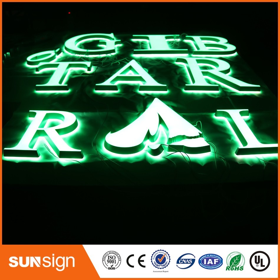 DIY Illuminated Letters Font Acrylic LED Letters