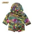 Camuflagem Crianças Florais Jaquetas de Outono/Inverno Meninos e Meninas Com Capuz Roupas Outerwear & Casacos Adolescentes Parkas Moda infantil