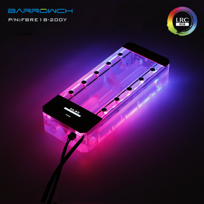 Barrowch FBRE1 Y BoxFish Reservoirs LRC 2 0 Acrylic Square Smart Digital Reservoirs Real time Temperature